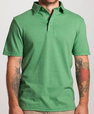Dirtball Polo Shirt Made from 100% Recycled Materials